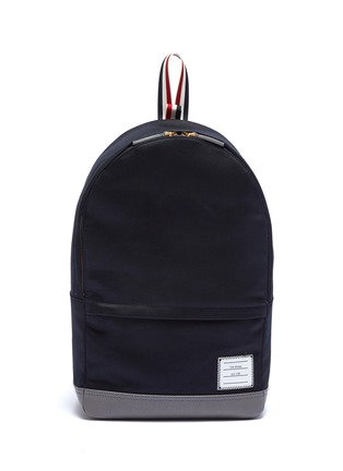 Main View - Click To Enlarge - Thom Browne - Stripe handle twill backpack
