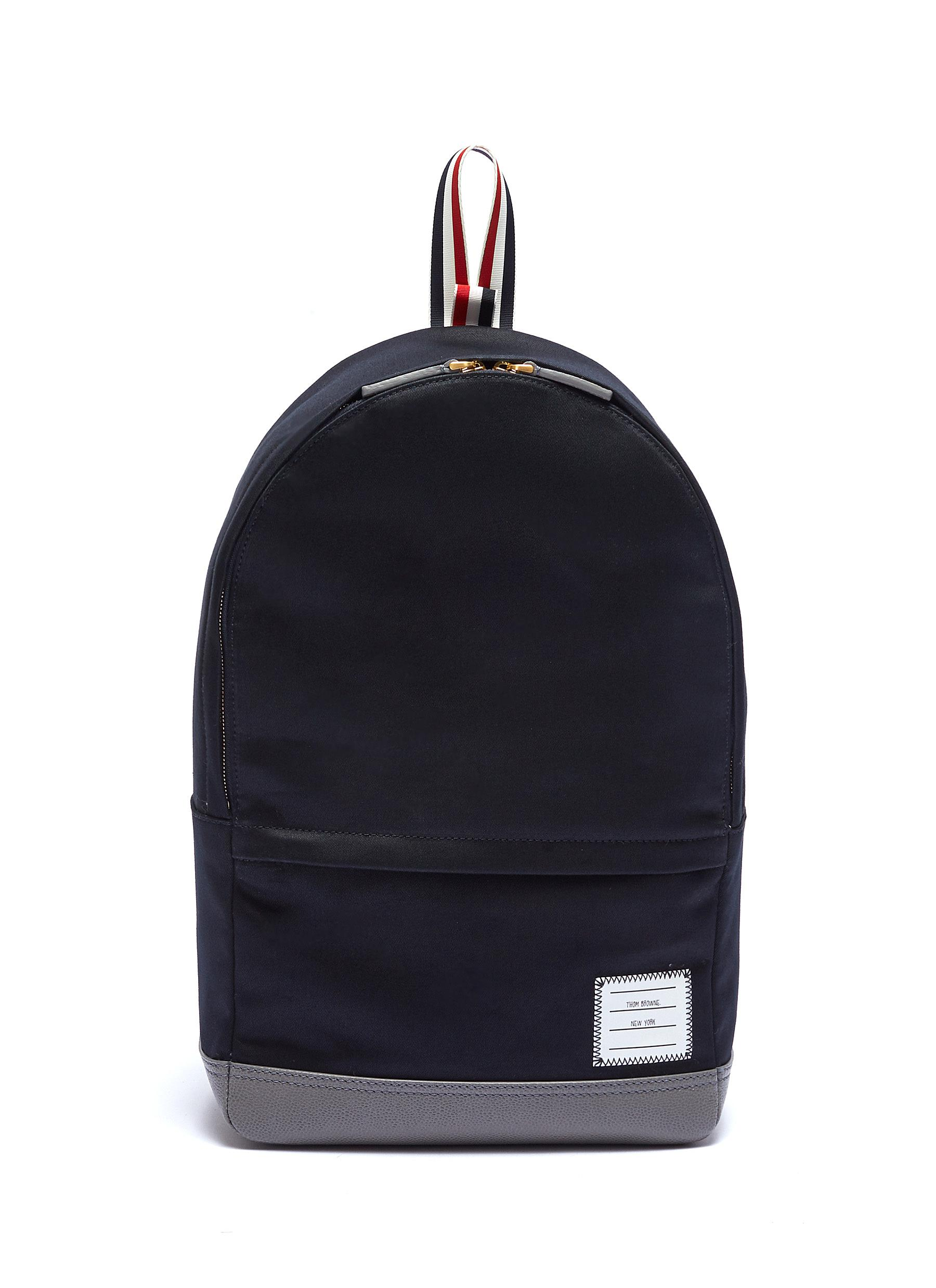01a844ba8b6f Main View - Click To Enlarge - Thom Browne - Stripe handle twill backpack