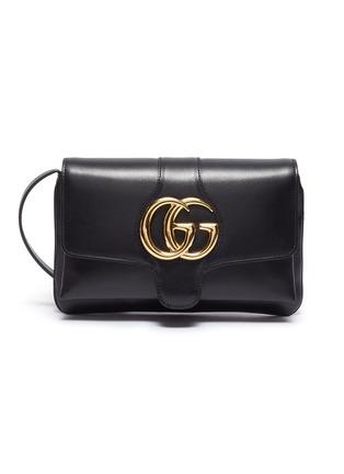 13529ba1fdc1 Gucci  Arli  GG logo small leather crossbody bag