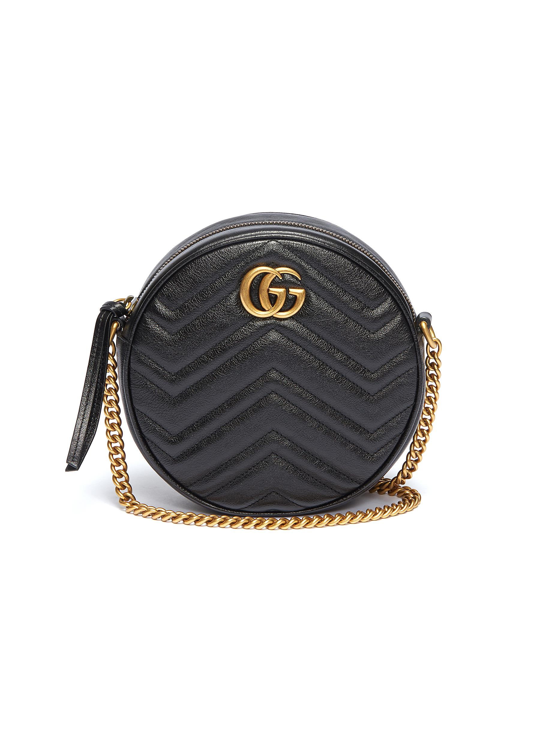 765a1522e397 Gucci.  GG Marmont  round matelassé leather crossbody bag