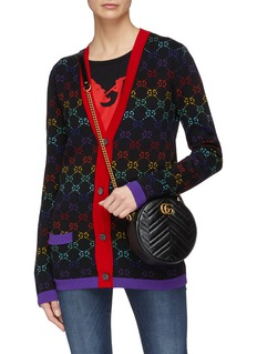 Gucci 'GG Marmont' round matelassé leather crossbody bag