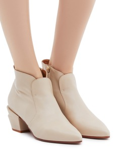 Robert Clergerie 'Agate' twist heel leather ankle boots