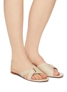 Robert Clergerie 'Aston' cross strap leather sandals
