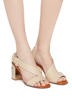 Robert Clergerie 'Abstract' asymmetric strap leather sandals