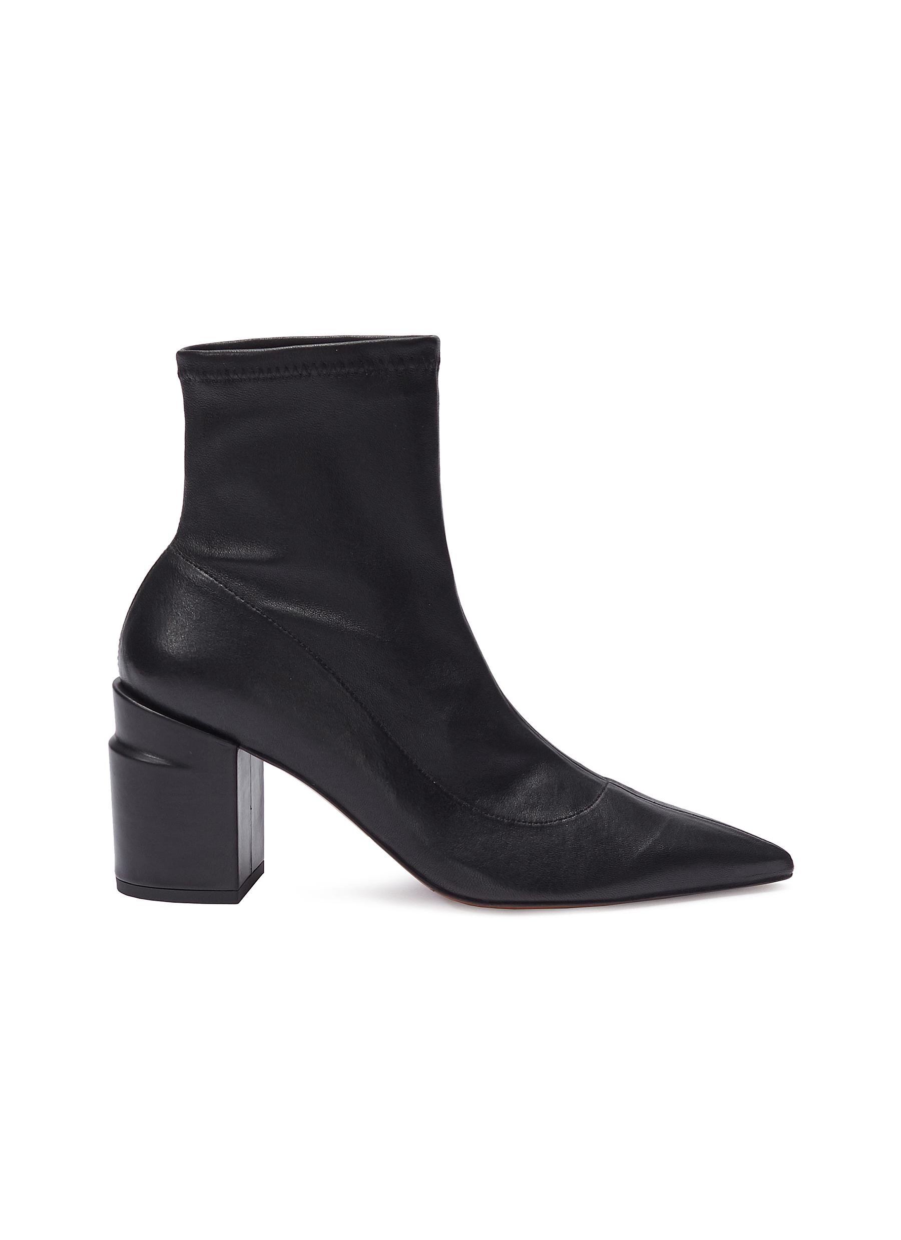 Alaska twist heel leather ankle boots by Clergerie