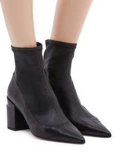 Robert Clergerie 'Alaska' twist heel leather ankle boots