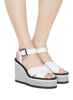 Robert Clergerie 'Alive' leather wedge sandals