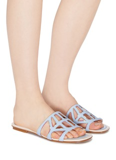RODO Cutout leather slide sandals