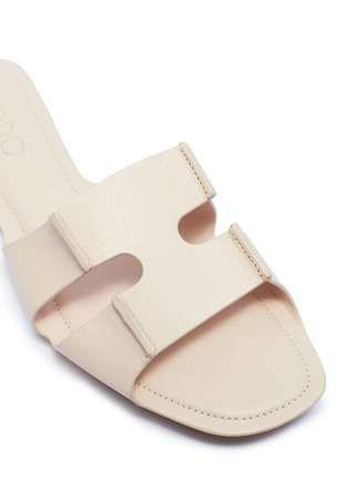 Detail View - Click To Enlarge - RODO - Cutout leather slide sandals