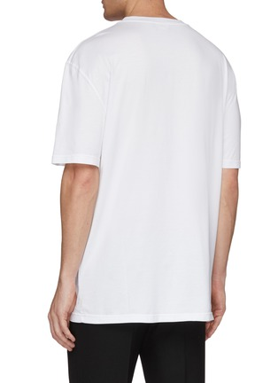 Back View - Click To Enlarge - CALVIN KLEIN 205W39NYC - 'Jaws' logo graphic print oversized T-shirt