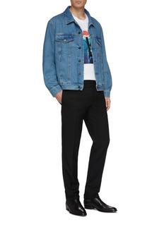 Calvin Klein 205W39NYC 'Jaws' logo graphic print denim jacket