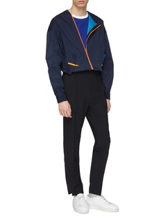 8ON8 Slant placket collarless jacket