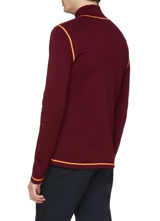 Back View - Click To Enlarge - 8ON8 - Contrast topstitching turtleneck sweater