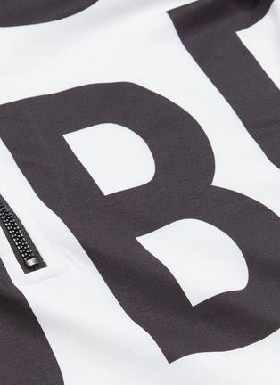 - GOLDBERGH - 'Libby' logo print half-zip high neck ski top