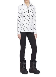 Goldbergh 'Santina' star print half-zip high neck ski top