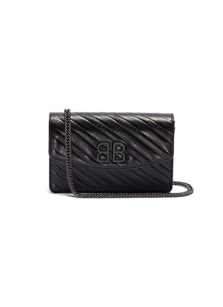Main View - Click To Enlarge - BALENCIAGA - 'BB' logo embossed leather chain wallet