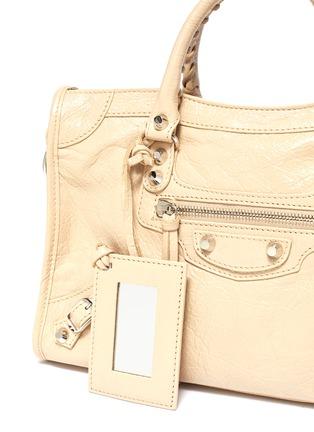 - BALENCIAGA - 'Classic City' logo strap small leather shoulder bag