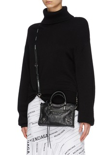 Balenciaga 'Classic City' logo strap nano leather shoulder bag