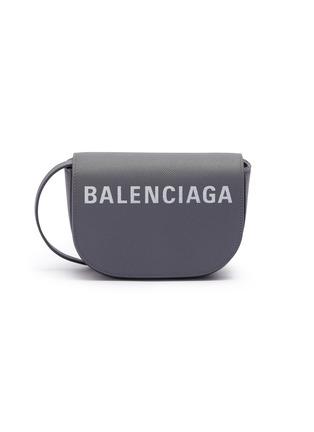 Main View - Click To Enlarge - Balenciaga - 'Ville Day XS' logo print grainy leather crossbody bag
