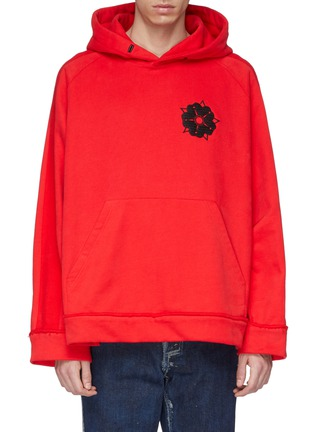 Main View - Click To Enlarge - Pronounce - Floral embroidered hoodie