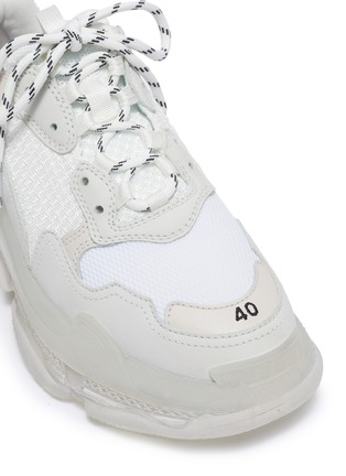 Detail View - Click To Enlarge - BALENCIAGA - 'Triple S Clear Sole' stack midsole mesh sneakers