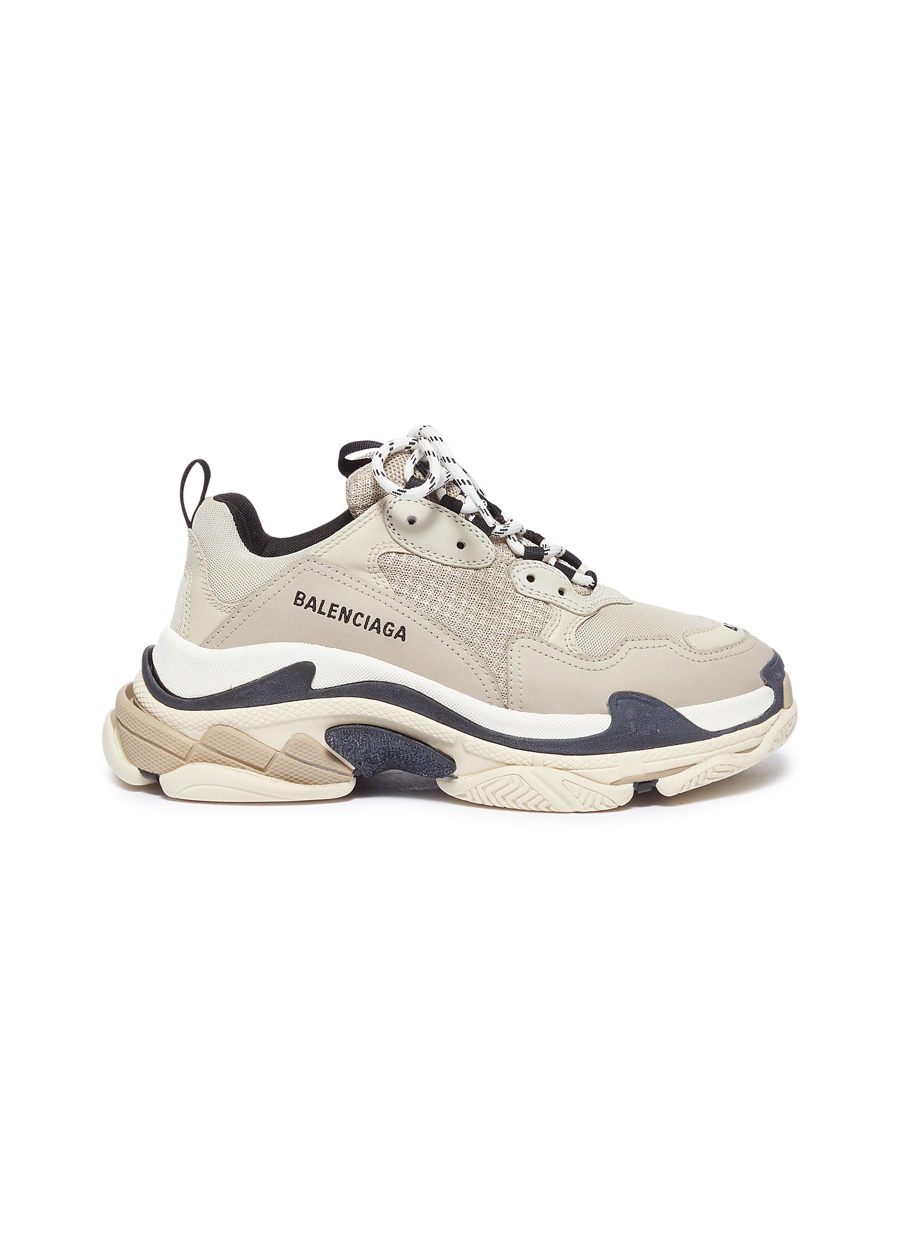 Triple S stack midsole patchwork sneakers by Balenciaga