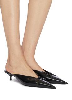 Balenciaga 'Knife' bow leather mules