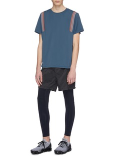 Particle Fever Stripe performance T-shirt