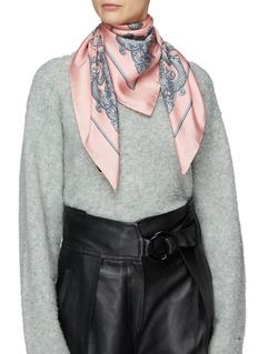 Gucci 'Lady Kingdom' motif print silk twill scarf