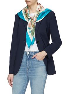 Gucci 'Lady Clicot' poppy print silk jacquard scarf