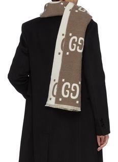 Gucci Reversible GG logo jacquard wool-silk scarf