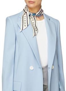 Gucci Floral print silk twill neck tie