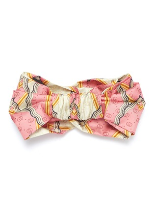 001ebf4aa75 Figure View - Click To Enlarge - Gucci - Snake rhombus GG silk headband
