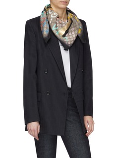 Gucci 'GucciGhost' print silk twill scarf