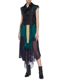 sacai Ruffle back strappy double breasted vest