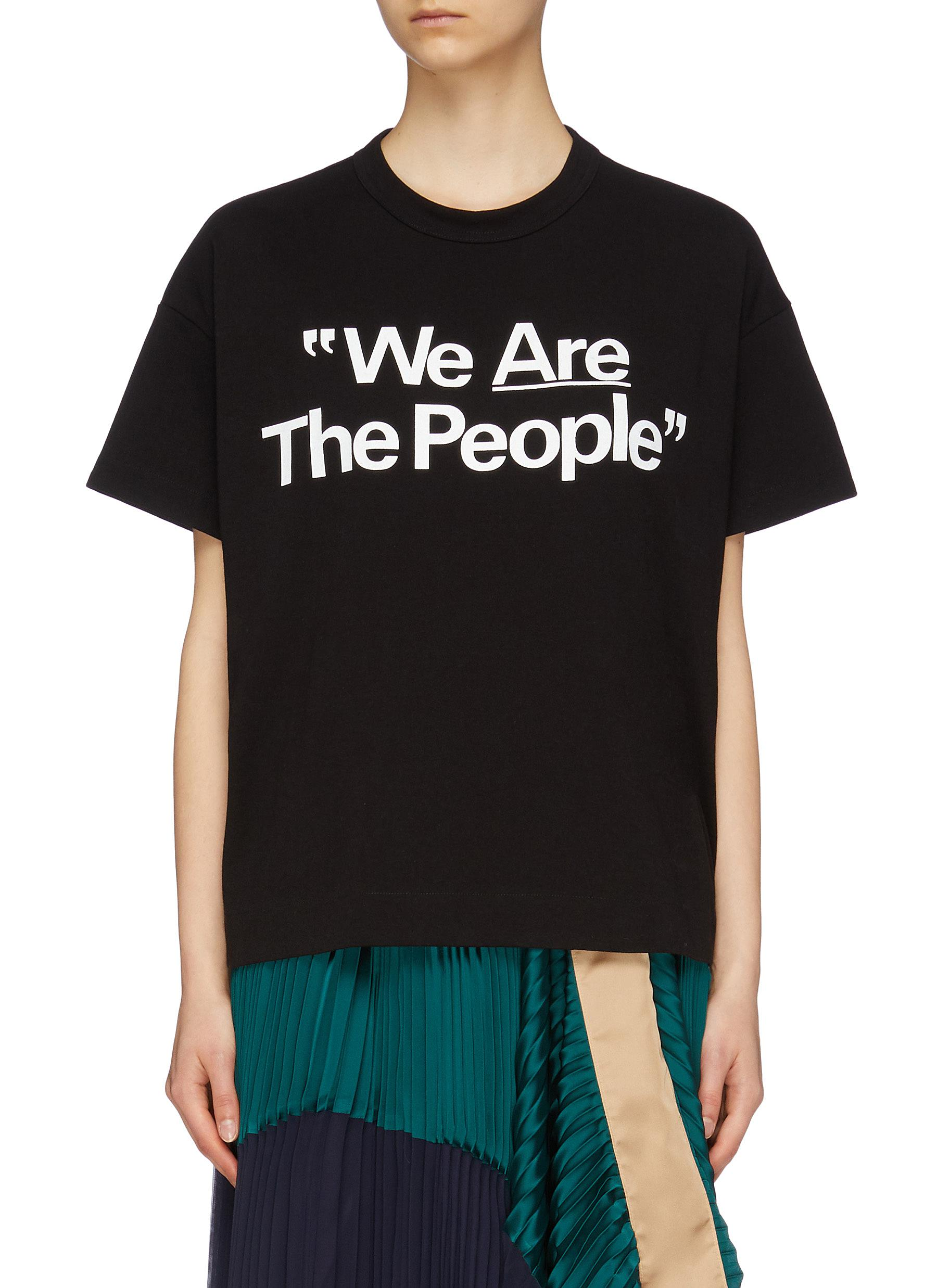 Are Lane The Crawford Sacai'we Slogan Print Shirt People' T Women tohrdxQCBs