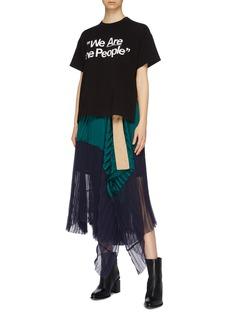 sacai 'We Are The People' slogan print T-shirt