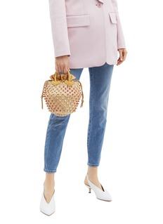 Le Ninè 'Nina Shadow' small dégradé embellished basket bag