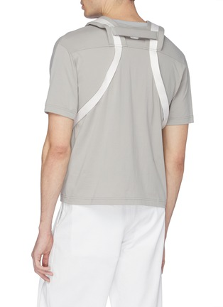 Back View - Click To Enlarge - STAFFONLY - 'Apeni' backpack strap T-shirt