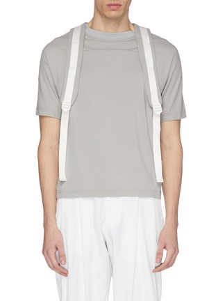 Main View - Click To Enlarge - STAFFONLY - 'Apeni' backpack strap T-shirt