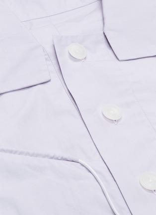 - STAFFONLY - 'Faguno' piping half placket short sleeve shirt