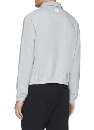 Back View - Click To Enlarge - STAFFONLY - 'Deno' layered collar chest pocket sweatshirt
