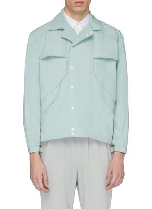 Main View - Click To Enlarge - STAFFONLY - 'Rowen' piping shirt jacket