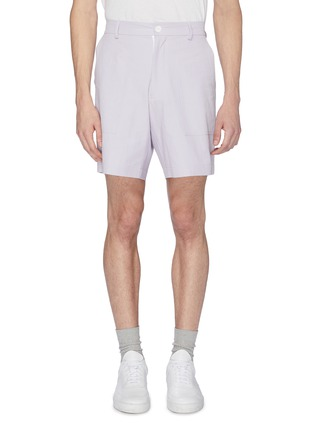 Main View - Click To Enlarge - STAFFONLY - 'Yabo' ribbed sweat shorts