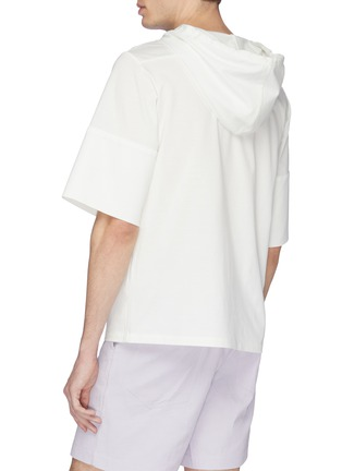 Back View - Click To Enlarge - STAFFONLY - 'Rolit' short sleeve hoodie