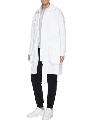 Figure View - Click To Enlarge - STAFFONLY - 'Ray' strap mix pocket parka