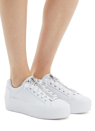 6ae4b7e9df8 Figure View - Click To Enlarge - ASH -  Buzz  zip leather platform sneakers