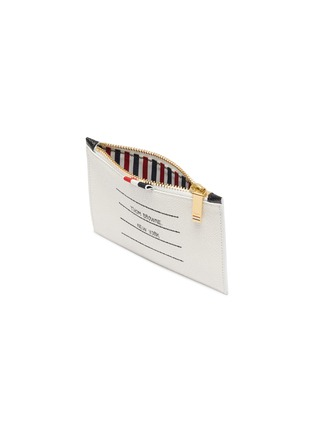Detail View - Click To Enlarge - THOM BROWNE - Label print small pebble grain leather wallet
