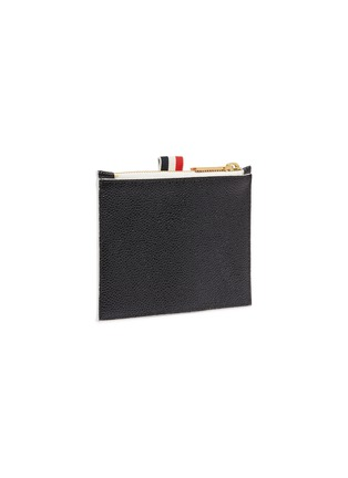 Figure View - Click To Enlarge - THOM BROWNE - Label print small pebble grain leather wallet