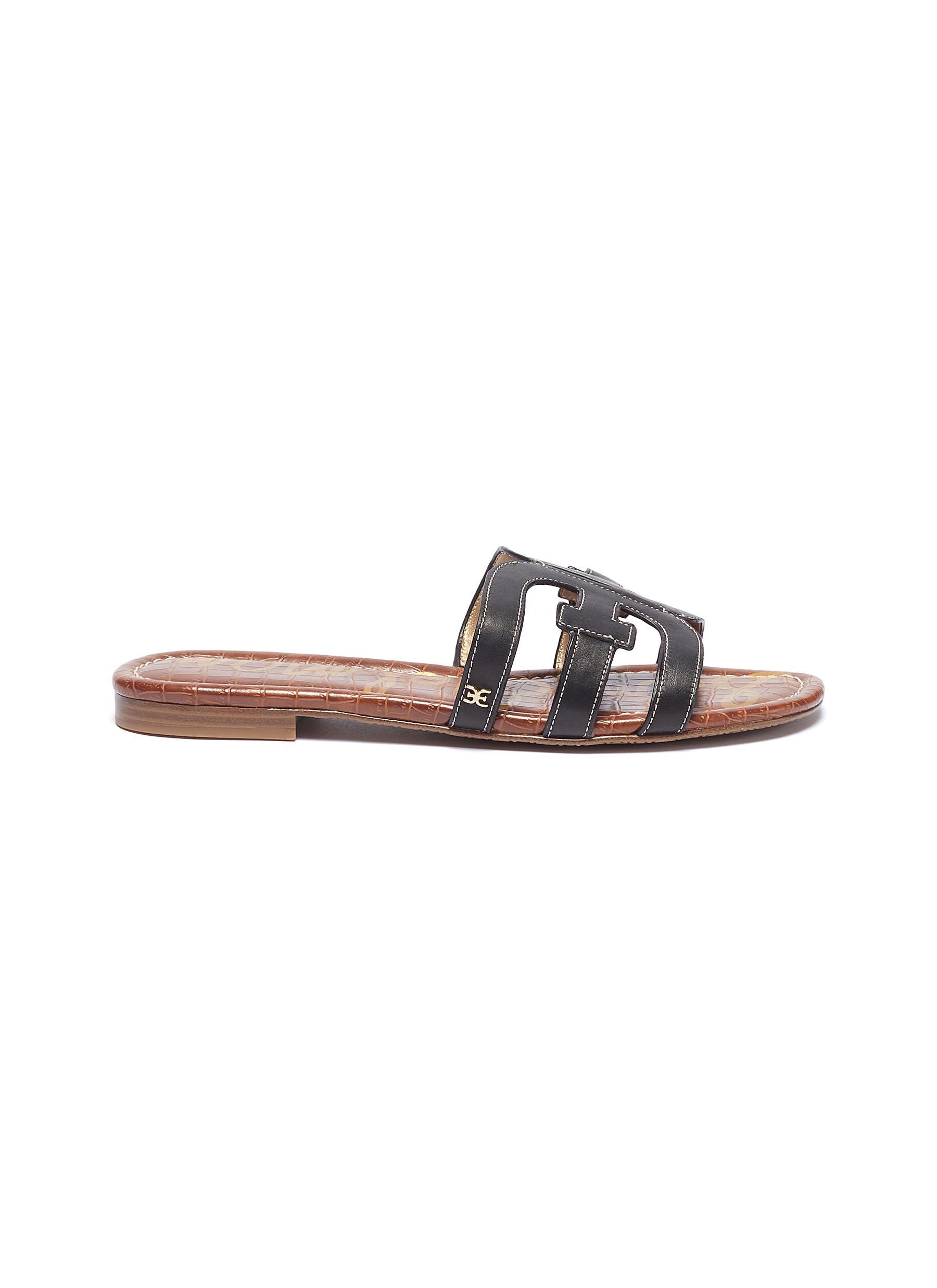 Bay leather slide sandals by Sam Edelman